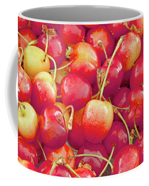 Cherries Coffee Mug featuring the photograph Life's A Bowl Of Cherries by Regina Geoghan