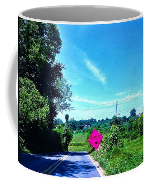Nature Coffee Mug featuring the photograph Life's Detour by Debra Lynch