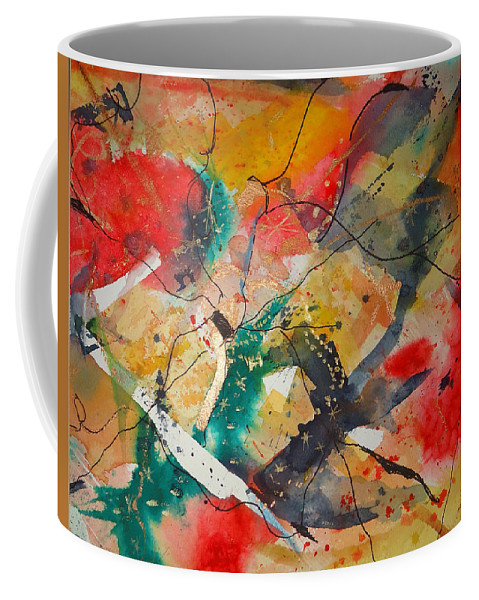 There Are Always Cracks In Life . Abstract Coffee Mug featuring the mixed media Lifes Little Cracks by Charme Curtin