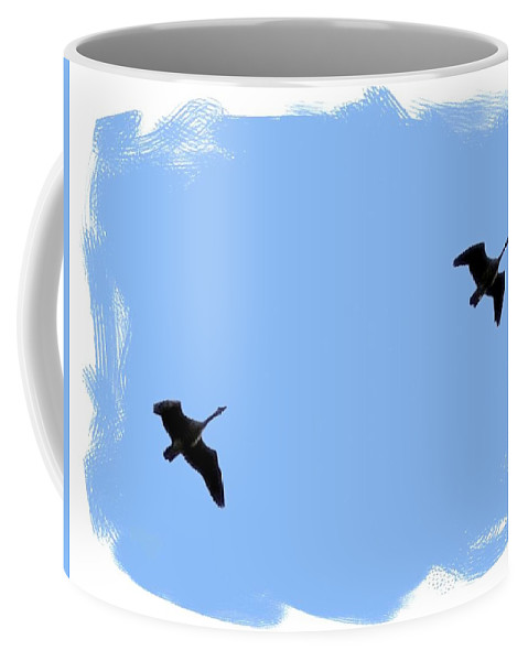 Canada Geese Coffee Mug featuring the photograph Lifetime Accord by Will Borden