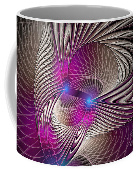 Digital Coffee Mug featuring the digital art Light And Lines by Deborah Benoit