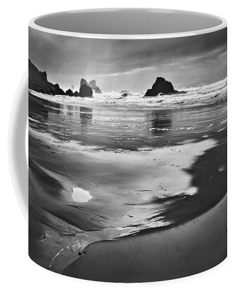 Beach Coffee Mug featuring the photograph Light And Shadow by John Christopher