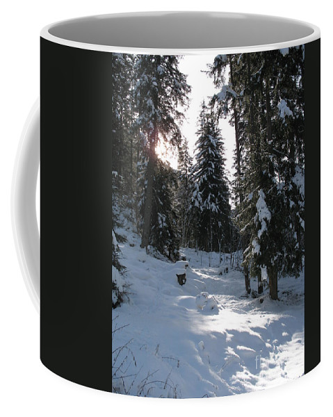 Snow Coffee Mug featuring the photograph Light And Shadow On A Snowy Landscape by Christiane Schulze Art And Photography