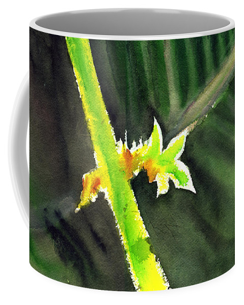 Water Color Coffee Mug featuring the painting Light Branch by Anil Nene