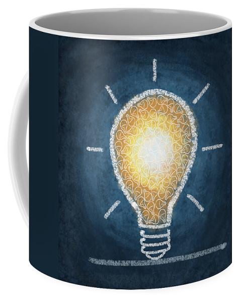 Art Coffee Mug featuring the photograph Light Bulb Design by Setsiri Silapasuwanchai