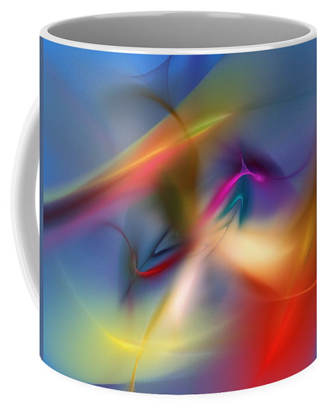 Digital Painting Coffee Mug featuring the digital art Light Dance 010310 by David Lane