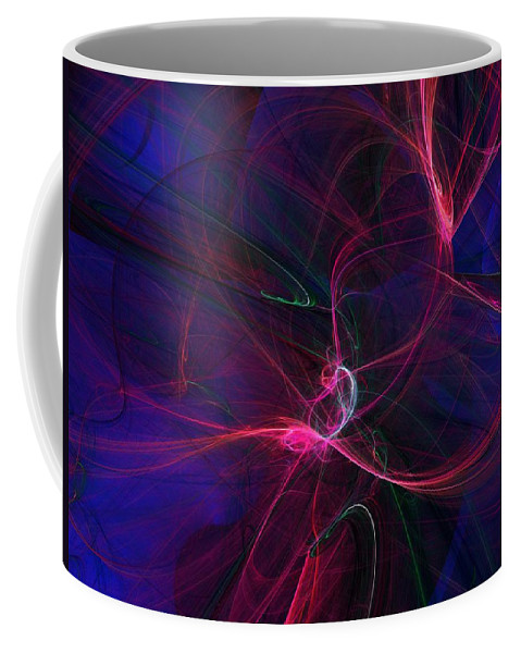 Abstract Digital Painting Coffee Mug featuring the digital art Light Dance 11-25-09 by David Lane