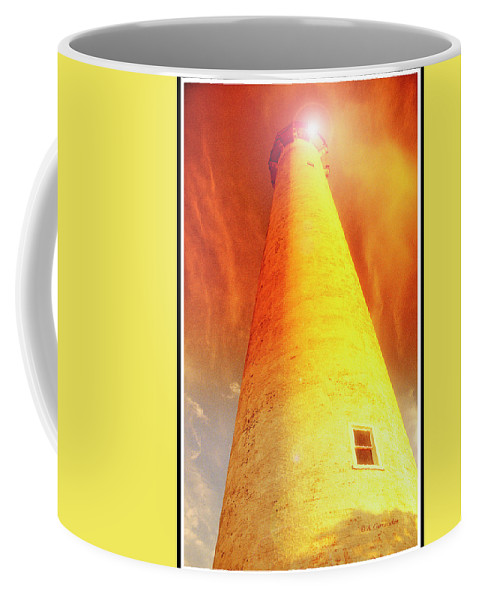 Lighthouse Coffee Mug featuring the photograph Light House At Sunset, Cape May, Nj by A Gurmankin