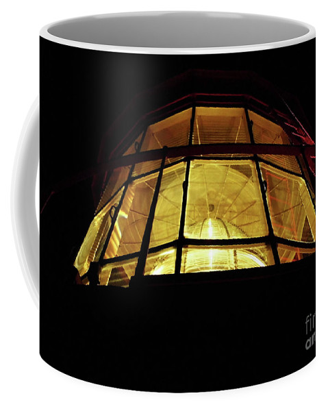 Lighthouse Coffee Mug featuring the photograph Light In The Dark Sky by D Hackett