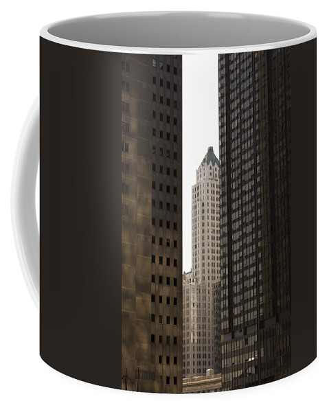 Chicago City Wind Windy Jungle Urban Metro Building Tall High Windows Skyscraper Sky Coffee Mug featuring the photograph Light In The End by Andrei Shliakhau
