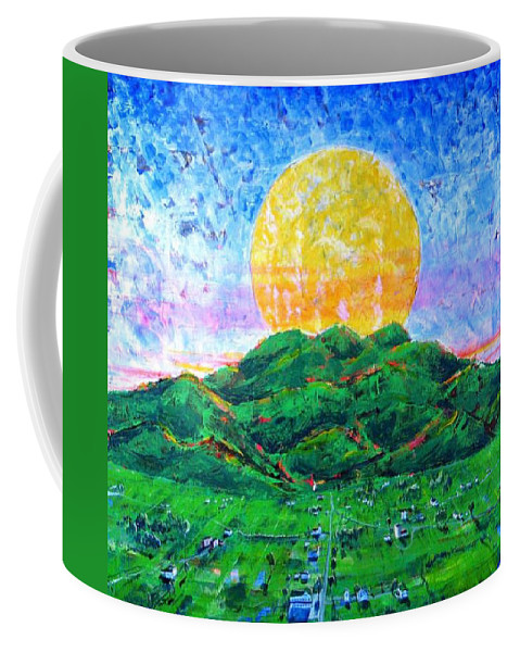 Sun Coffee Mug featuring the painting Light Of Day by Rollin Kocsis