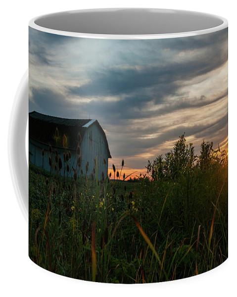 Barn Coffee Mug featuring the photograph Light Of Hope by Angela Mocniak