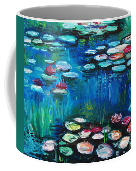 Water Lillies Coffee Mug featuring the painting Light Of The Lillies by Elizabeth Robinette Tyndall
