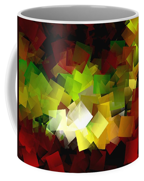 Kubic Coffee Mug featuring the digital art Light On The End Of Darkness by Helmut Rottler