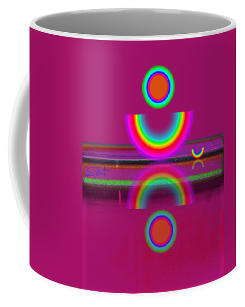 Reflections Coffee Mug featuring the painting Light Red by Charles Stuart