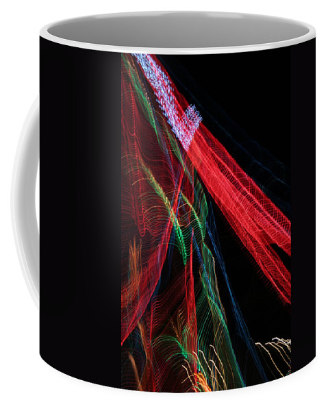 Christmas Coffee Mug featuring the photograph Light Ribbons by Ric Bascobert