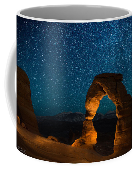 Delecate Arch Coffee Mug featuring the photograph Light Show by Jon Blake