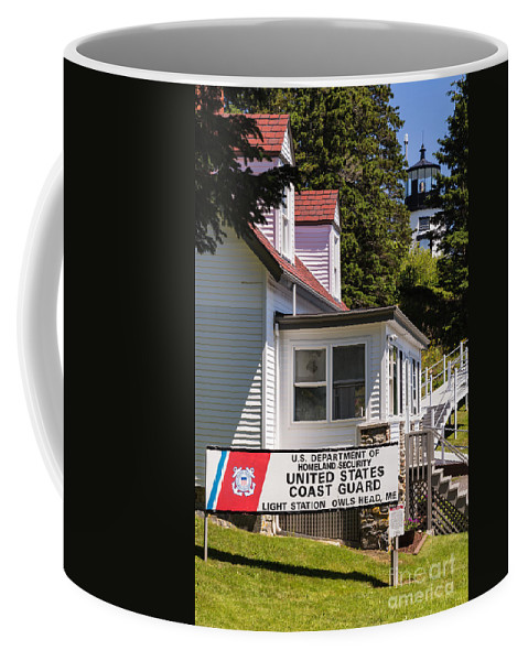 Owl Head Lighthouse Coffee Mug featuring the photograph Light Station Owl Head Rockland Maine by Dawna Moore Photography