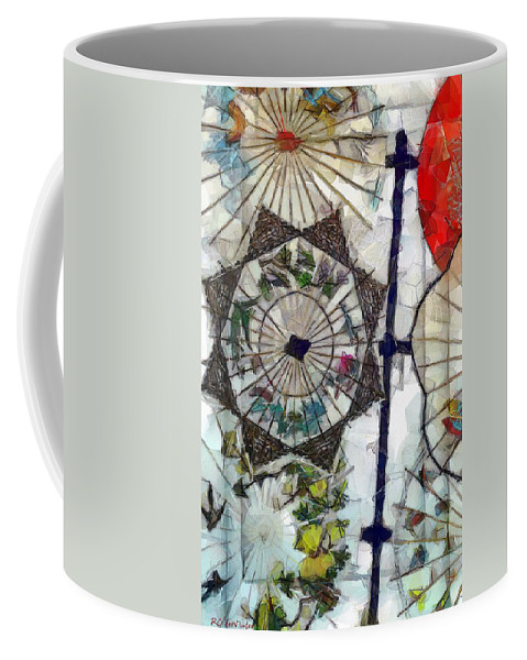 Antique Coffee Mug featuring the painting Light Through A Japanese Screen by RC DeWinter