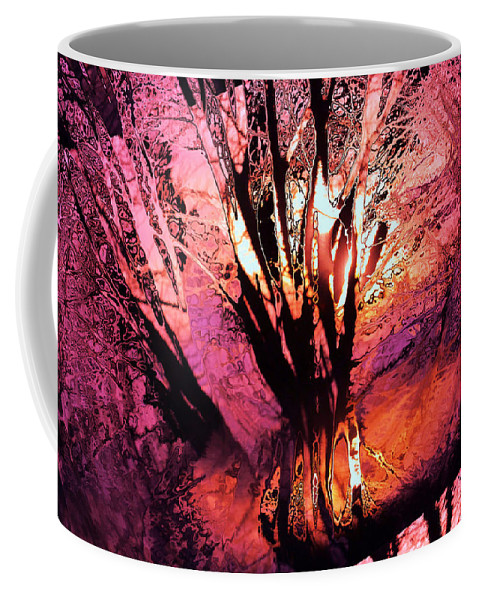 Trees Coffee Mug featuring the photograph Light Through The Trees by Jeff Swan