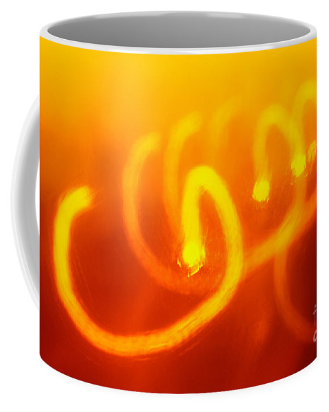 Abstract Coffee Mug featuring the photograph Light Trail Abstract by Gaspar Avila