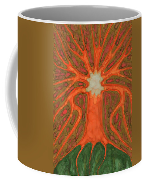 Colour Coffee Mug featuring the painting Light Tree by Wojtek Kowalski