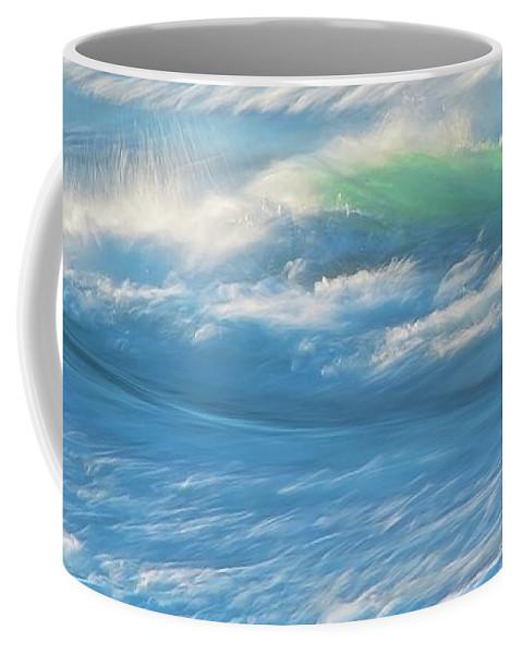 Nature Coffee Mug featuring the photograph Light Wave at Asilomar, Pacific Grove, California by Zayne Diamond Photographic