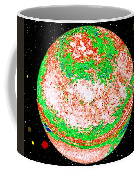 Abstract Coffee Mug featuring the digital art Light Years Away by Will Borden