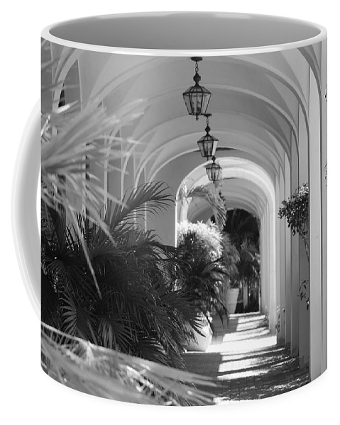 Architecture Coffee Mug featuring the photograph Lighted Arches by Rob Hans