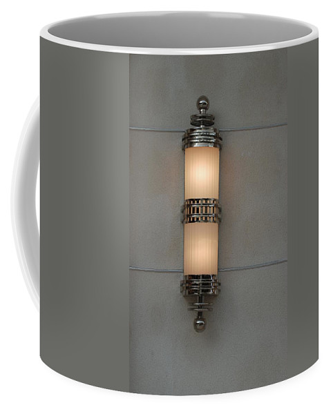 Sconce Coffee Mug featuring the photograph Lighted Wall Sconce by Rob Hans
