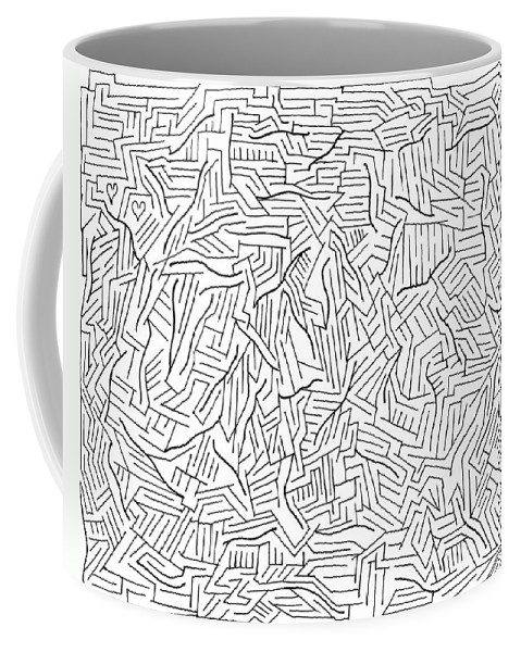 Mazes Coffee Mug featuring the drawing Lightening by Steven Natanson