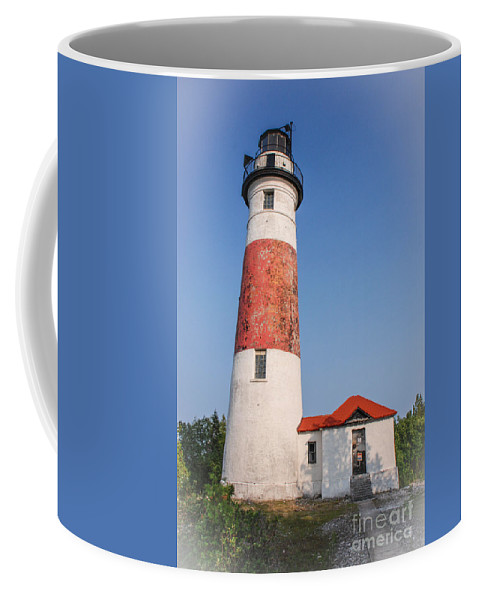 Lighthouse Coffee Mug featuring the photograph Lighthouse And Entry by Grace Grogan
