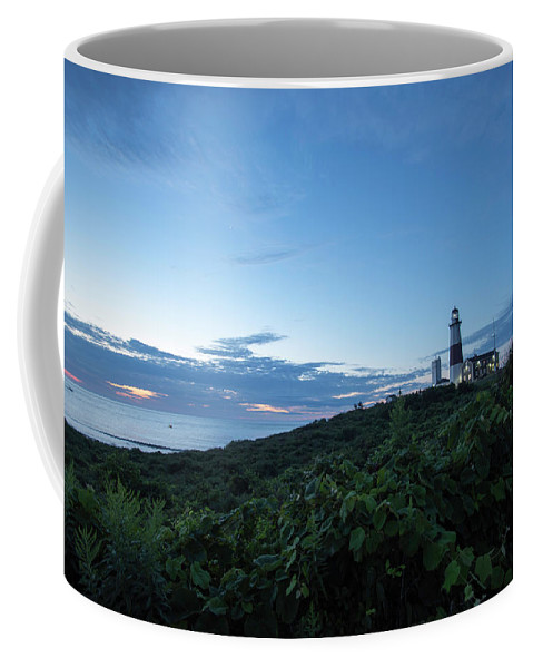 Bllue Hour Coffee Mug featuring the photograph Lighthouse At Blue Hour by Joan D Squared Photography
