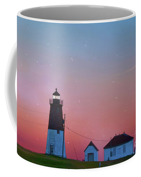 Architecture Coffee Mug featuring the photograph Lighthouse At Sunrise by Juli Scalzi