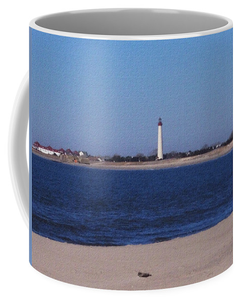 Lighthouse Coffee Mug featuring the photograph Lighthouse At The Point by Pharris Art