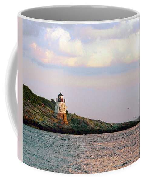 Lighthouse Coffee Mug featuring the photograph Lighthouse Castle Hill by Steven Natanson