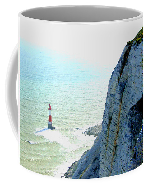 Lighthouse Coffee Mug featuring the photograph Lighthouse by Heather Lennox