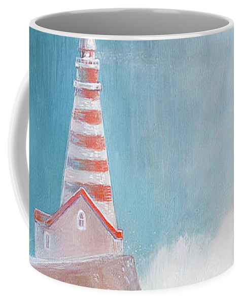 Lighthouse Coffee Mug featuring the painting Lighthouse by Olga Yatsenko
