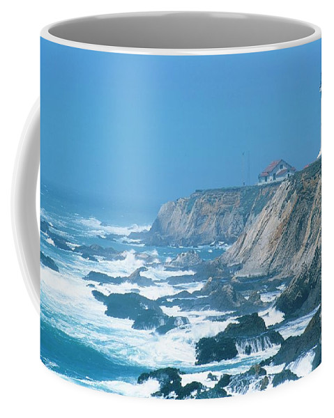 Lighthouse Coffee Mug featuring the photograph Lighthouse On The California Coast by Ronnie Glover