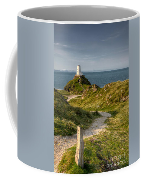 Anglesey Coffee Mug featuring the photograph Lighthouse Twr Mawr by Adrian Evans