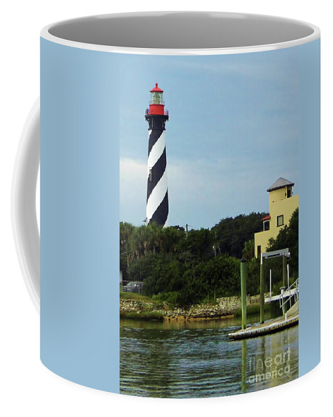 Lighthouse Coffee Mug featuring the photograph Lighthouse Water View by D Hackett