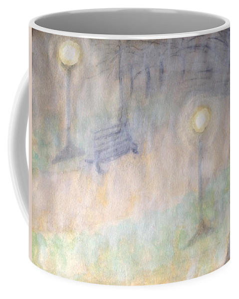Watercolor Park Coffee Mug featuring the painting Lighting The Way by Sticky Friends