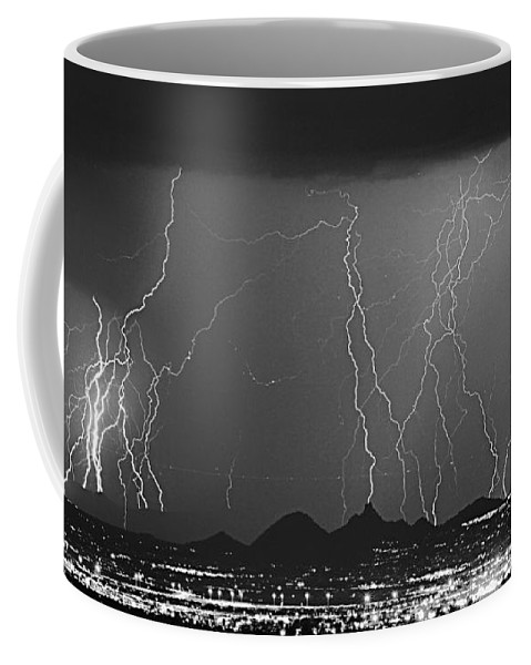 Lightning Coffee Mug featuring the photograph Lightning Long Exposure by James BO Insogna