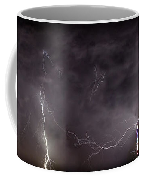 Lightning Coffee Mug featuring the photograph Lightning Over Perris by Anthony Jones