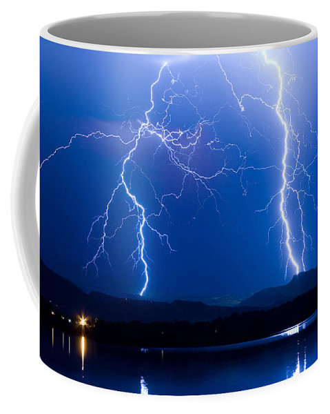 Lightning Coffee Mug featuring the photograph Lightning Storm 08.05.09 by James BO Insogna