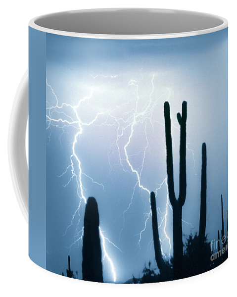 Lightning Coffee Mug featuring the photograph Lightning Storm Chaser Payoff by James BO Insogna