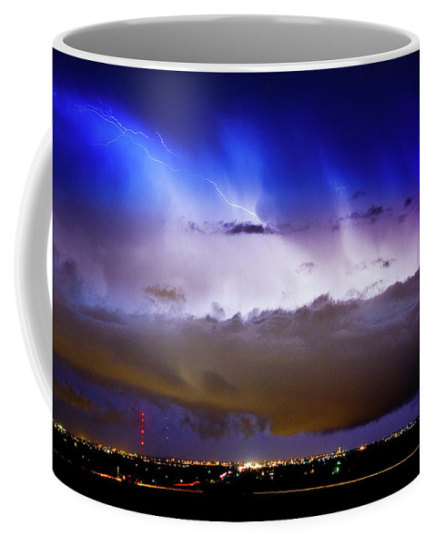 Bo Insogna Coffee Mug featuring the photograph Lightning Thunder Head Cloud Burst Boulder County Colorado Im39 by James BO Insogna
