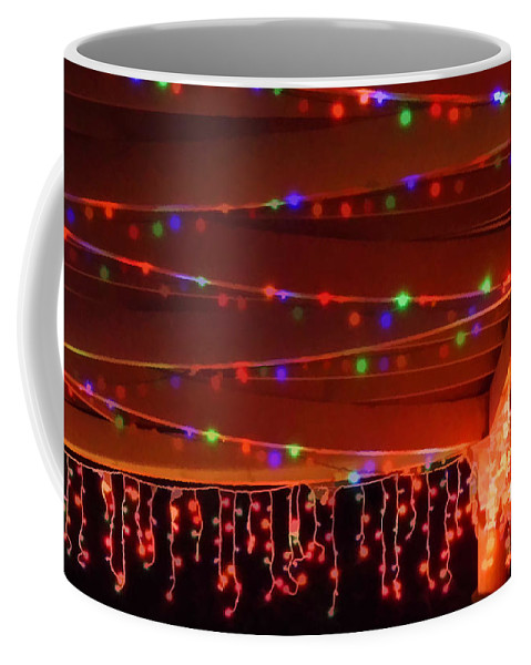 Christmas Coffee Mug featuring the photograph Lights At Christmas by D Hackett