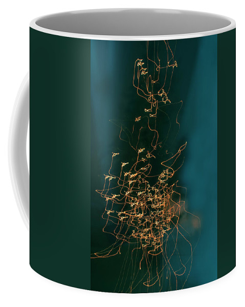 Abstract Coffee Mug featuring the photograph Lights by Linda Sannuti