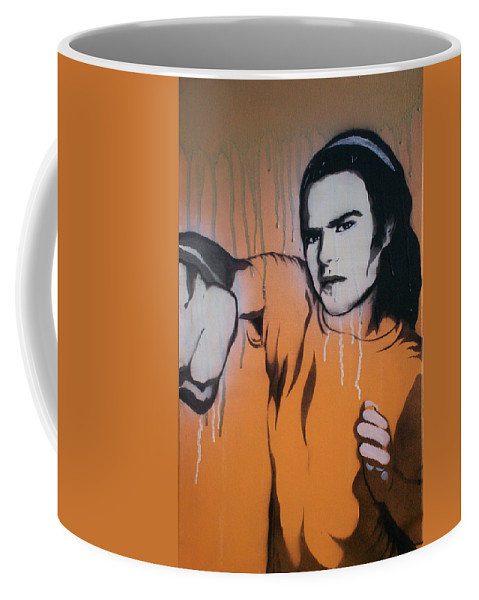 Lights Out Coffee Mug featuring the painting Lights Out by Gary Hogben